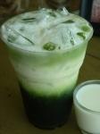 ชาเขียว นมสด ร้่านไร่ไทย